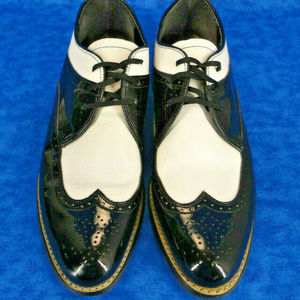 STACY ADAMS Wing Tip Patent Shoes 8.5 D (8 1/2D)